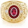 USNA Class Ring, Red Tourmaline, Eternal MX™ Ruby.