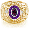 USNA Class Ring, Rhodolite Garnet, Eternal MX™ Amethyst.