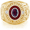 USNA Class Ring, Rhodolite Garnet, Eternal MX™ Garnet.