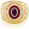 USNA Class Ring, Rhodolite Garnet, Eternal MX™ Ruby.