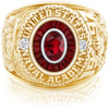 USNA Class Ring, Ruby, Eternal MX™ Garnet.