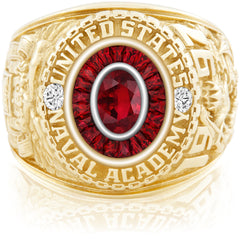USNA Class Ring, Ruby, Eternal MX™ Ruby.