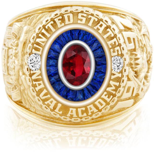 USNA Class Ring, Ruby, Eternal MX™ Sapphire.