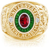 USNA Class Ring, Ruby, Eternal MX™ Emerald.