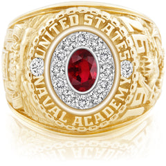 USNA Class Ring, Ruby, Pro M12™ Diamond.