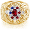 USNA Class Ring, Ruby, Pro M12™ Stars & Stripes Mod™.