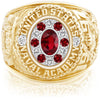 USNA Class Ring, Ruby, Pro M12™ Stripes Mod™.