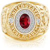 USNA Class Ring, Ruby, Pro M18™ Purity Mod™.