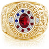 USNA Class Ring, Ruby, Pro M18™ Stars & Stripes Mod™.