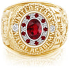 USNA Class Ring, Ruby, Pro M18™ Stripes Mod™.
