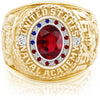 USNA Class Ring, Ruby, Pro M26™ Stars & Stripes Mod™.