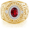 USNA Class Ring, Ruby, ProPlus M18™ Purity Mod™.