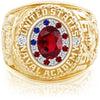 USNA Class Ring, Ruby, ProPlus M18™ Stars & Stripes Mod™.