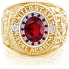 USNA Class Ring, Ruby, ProPlus M26™ Stars & Stripes Mod™.