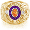 USNA Class Ring, Spessartite Garnet, Eternal MX™ Amethyst.