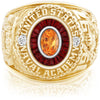 USNA Class Ring, Spessartite Garnet, Eternal MX™ Garnet.