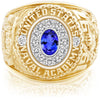 USNA Class Ring, Tanzanite, Pro M12™ Diamond.