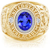 USNA Class Ring, Tanzanite, ProPlus M26™ Diamond.
