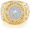 USNA Class Ring, White Opal, Pro M12™ Diamond.