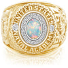 USNA Class Ring, White Opal, Pro M18™ Diamond.