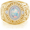 USNA Class Ring, White Opal, Pro M26™ Diamond.