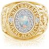 USNA Class Ring, White Opal, ProPlus M12™ Diamond.