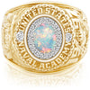 USNA Class Ring, White Opal, ProPlus M18™ Diamond.
