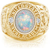 USNA Class Ring, White Opal, ProPlus M26™ Diamond.