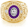 USNA Class Ring, White Sapphire, Eternal MX™ Amethyst.