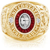 USNA Class Ring, White Sapphire, Eternal MX™ Ruby.