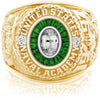 USNA Class Ring, White Sapphire, Eternal MX™ Tsavorite.
