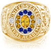 USNA Class Ring, Yellow Sapphire, Pro M12™ Go Navy High Tide Mod™.