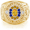 USNA Class Ring, Yellow Sapphire, Pro M12™ Go Navy Low Tide Mod™.