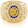 USNA Class Ring, Yellow Sapphire, Pro M18™ Go Navy High Tide Mod™.