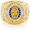 USNA Class Ring, Yellow Sapphire, Pro M18™ Go Navy Low Tide Mod™.