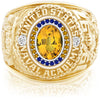 USNA Class Ring, Yellow Sapphire, Pro M26™ Go Navy High Tide Mod™.