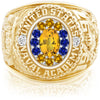 USNA Class Ring, Yellow Sapphire, ProPlus M12™ Go Navy Low Tide Mod™.