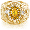 USNA Class Ring, Yellow Sapphire, ProPlus M12™ Navy Gold Mod™.