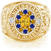 USNA Class Ring, Yellow Sapphire, ProPlus M12™ Blue & Gold Mod™.