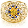 USNA Class Ring, Yellow Sapphire, ProPlus M18™ Blue & Gold Mod™.