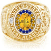 USNA Class Ring, Yellow Sapphire, ProPlus M18™ Go Navy High Tide Mod™.