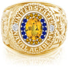 USNA Class Ring, Yellow Sapphire, ProPlus M18™ Go Navy Low Tide Mod™.