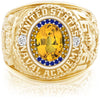 USNA Class Ring, Yellow Sapphire, ProPlus M26™ Go Navy High Tide Mod™.
