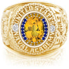USNA Class Ring, Yellow Sapphire, ProPlus M26™ Go Navy Low Tide Mod™.