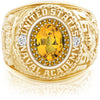 USNA Class Ring, Yellow Sapphire, ProPlus M26™ Navy Gold Mod™.