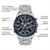 World Chronograph A-T functions and details