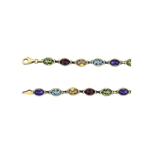 Multicolor Gemstone Bracelet (RGJ651540-100) Catches