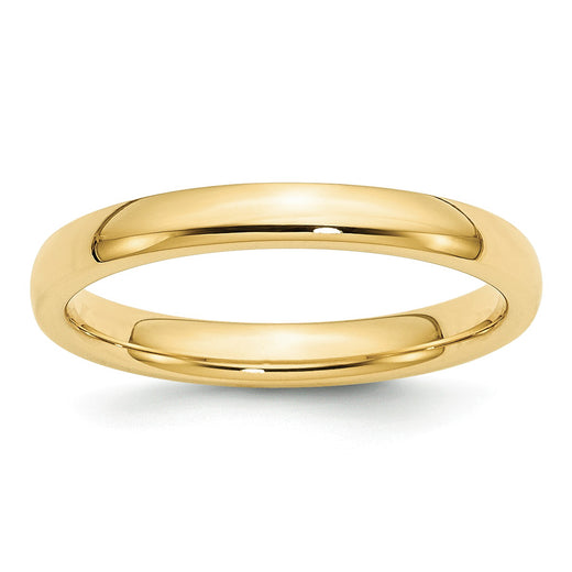 Yellow Gold Comfort Fit Wedding Band 3mm