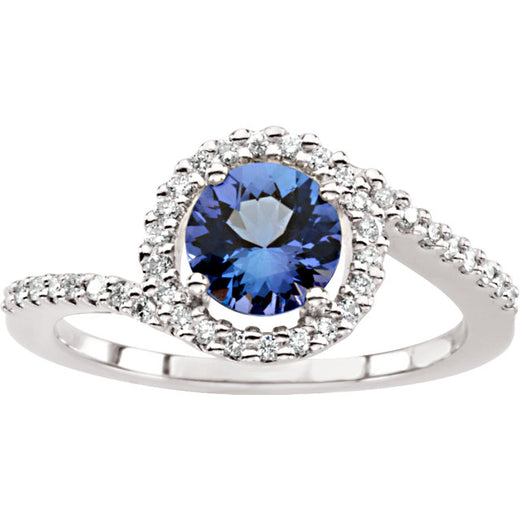 Tanzanite and Diamond Accented Ring (RGJ64012-60001) Top