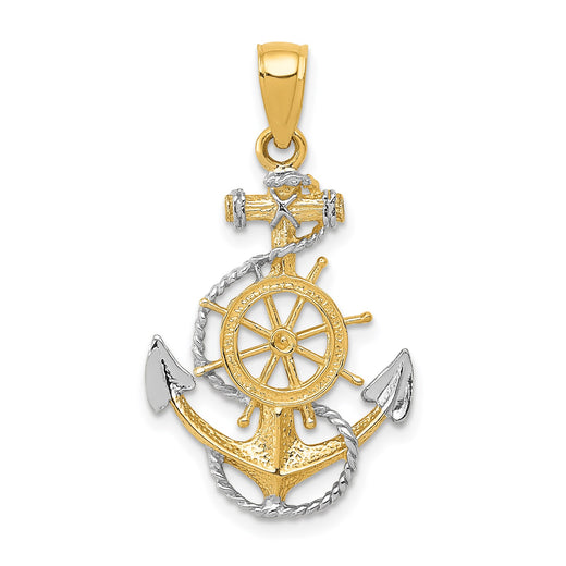 Anchor and Wheel Two-Tone Gold  Front